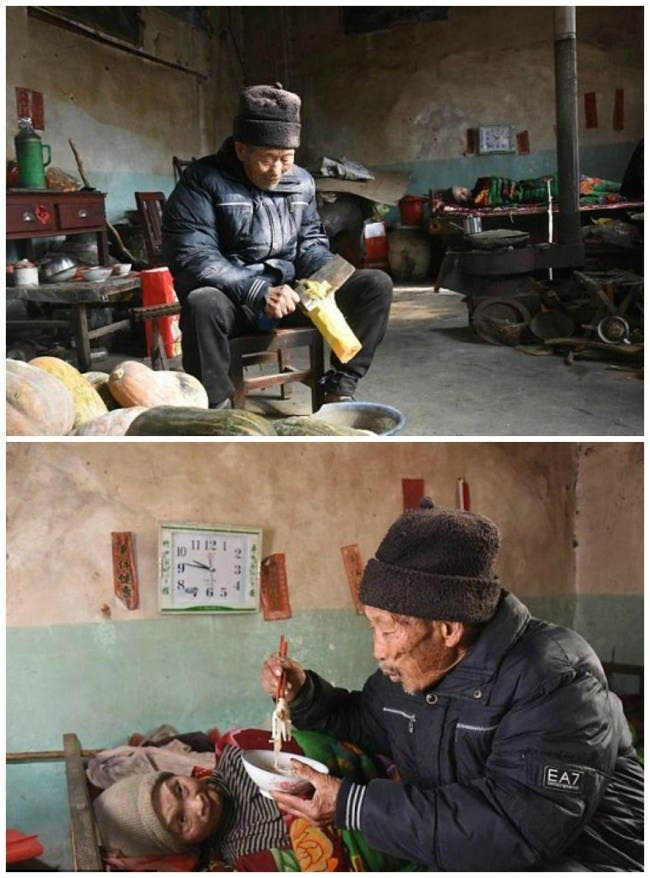 un homme prend soin de sa femme paralysée durant 56 ans puis prononce 9 mots qui vont la faire craquer