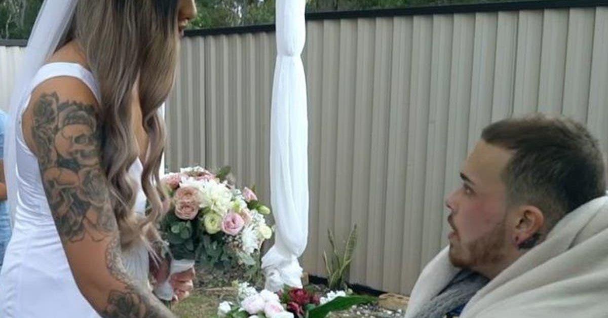 un jeune papa se marie un jour avant de deceder 1