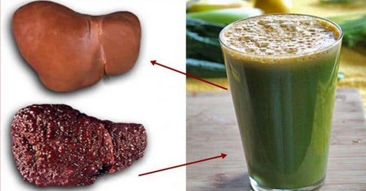 une boisson naturelle pour nettoyer la graisse accumulee dans le foie 1