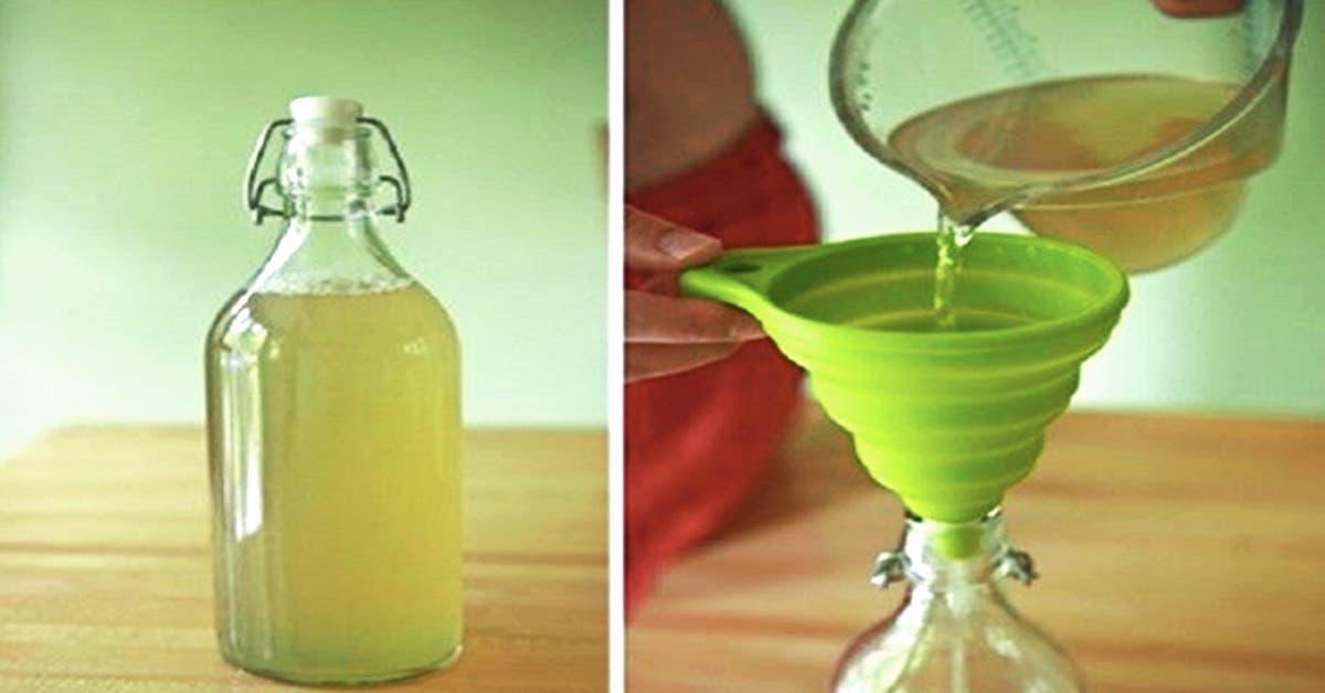 une délicieuse boisson au citron-gingembre