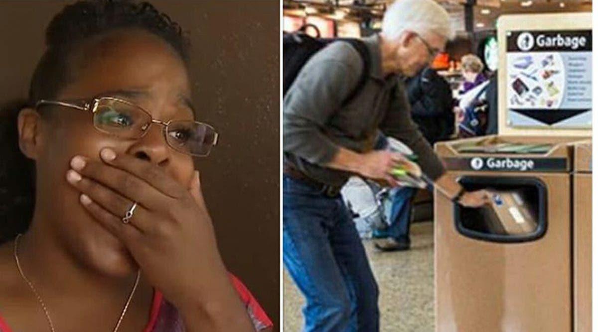 une-femme-voit-un-homme-qui-pleure-contraint-de-jeter-un-cadeau-dans-une-poubelle-a-laeroport