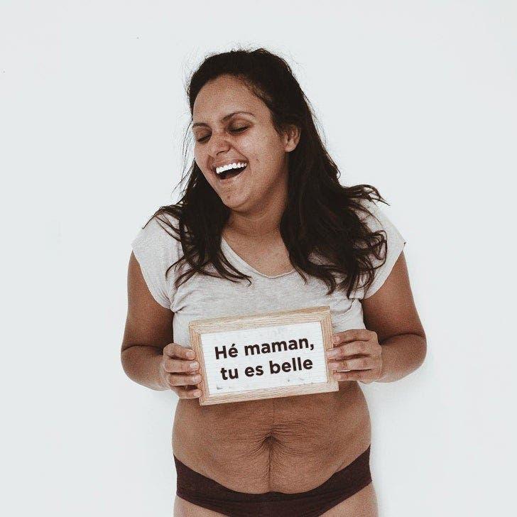 une maman publie des photos de son corps pour prouver que le corps de la femme est toujours beau et qu'il mérite d'être vu de tous