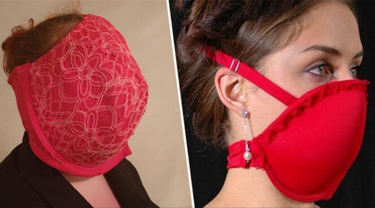 une-mere-montre-comment-utiliser-le-soutien-gorge-en-masque-pour-se-proteger