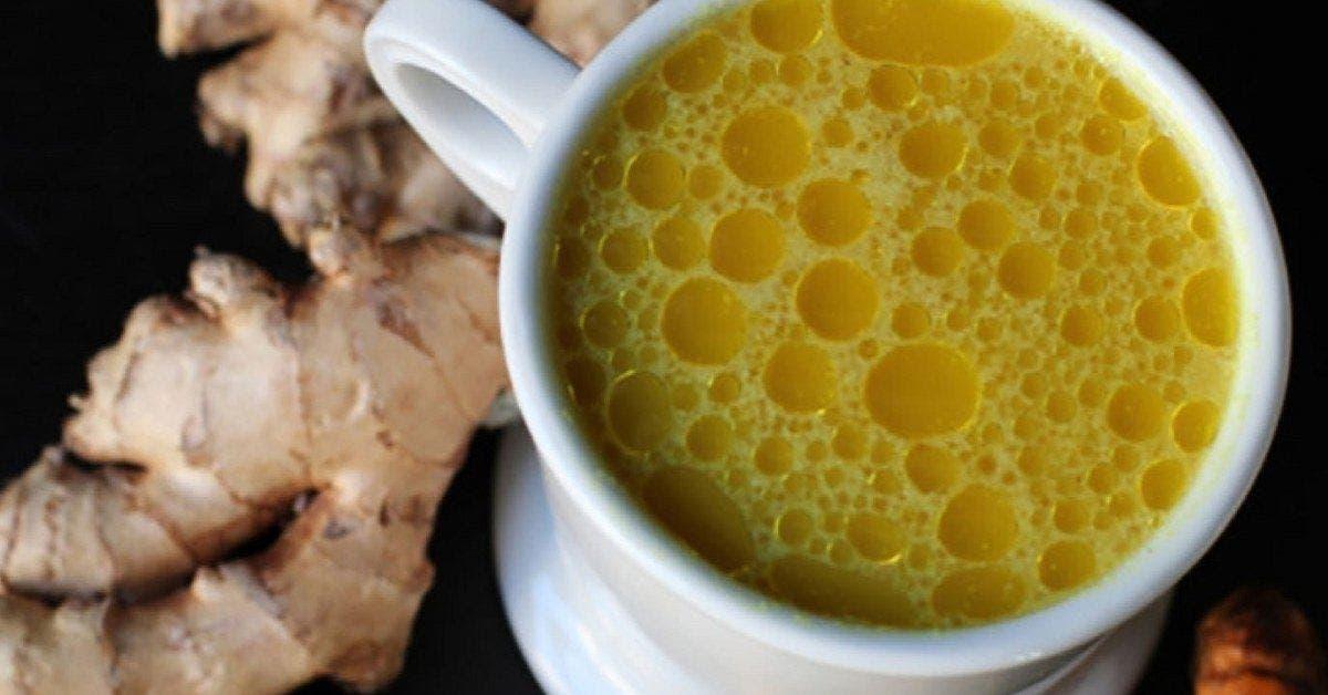 une recette au citron curcuma et gingembre une boisson medicinale pour soigner et prevenir le rhume et la grippe 1 1