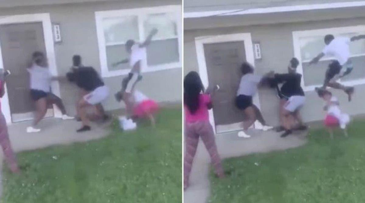 une-video-montre-des-adolescentes-en-train-de-violenter-une-maman-enceinte-et-donnant-des-coups-de-pieds-a-son-petit