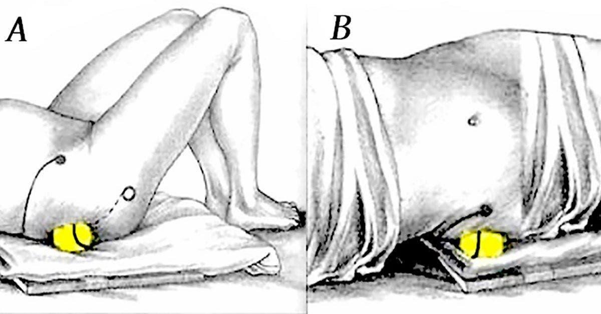 utilisez une balle de tennis pour soulager la douleur du nerf sciatique et le mal de dos 1 1