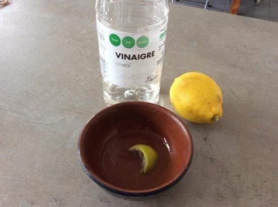 vinagre blanc sel citron
