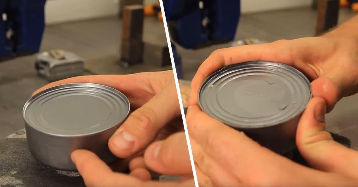 voici comment ouvrir une boite de conserve sans ouvre boite ni couteau 1