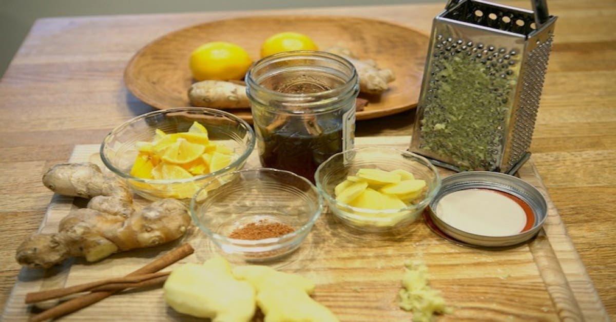 voici comment preparer le sirop au citron et gingembre pour commencer a perdre du poids 1