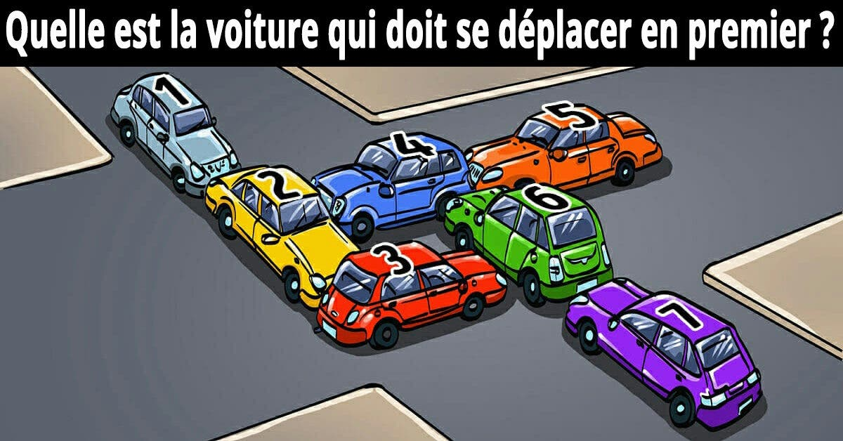 Défi du jour : Quelle voiture doit être déplacée pour libérer cet embouteillage ?