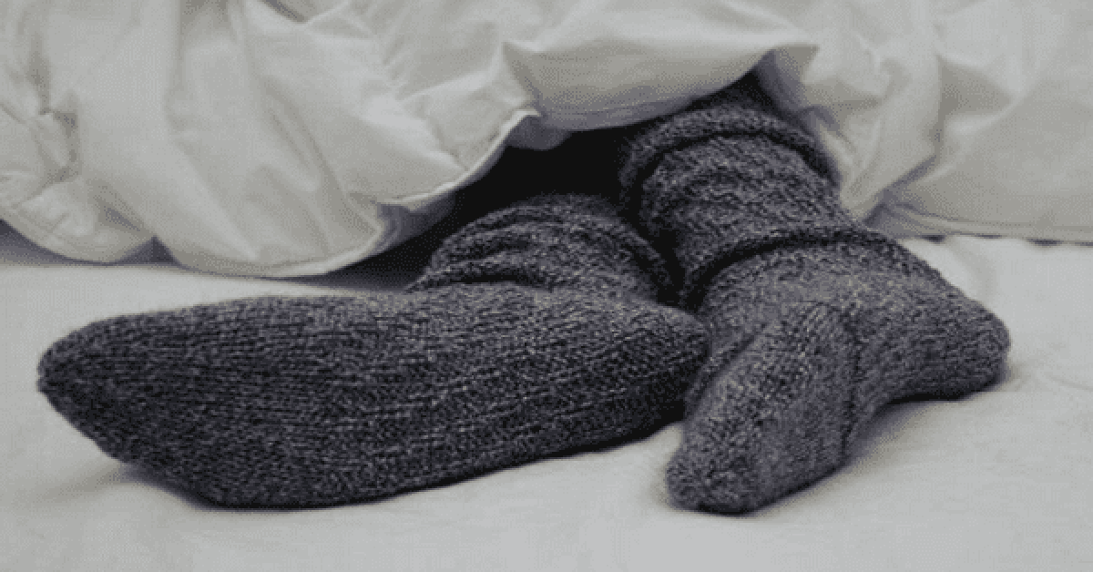 vous mettrez toujours vos chaussettes pour aller au lit