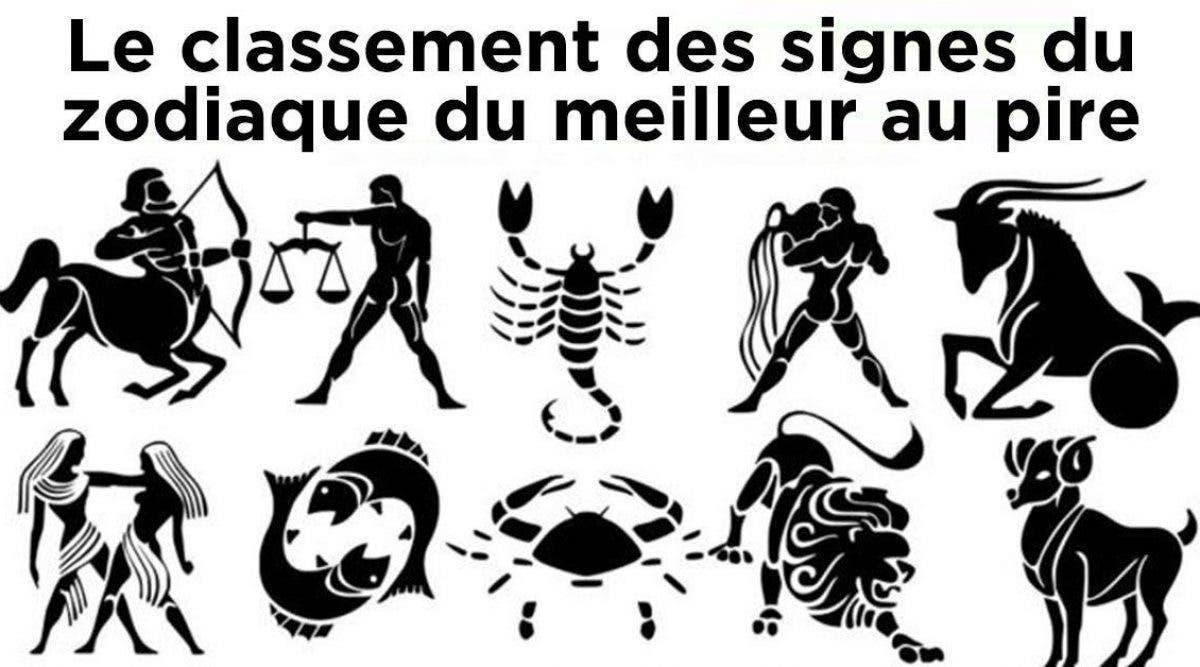 Le classement des signes du zodiaque du meilleur au pire